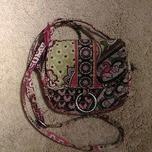 Pink & Green Vera Bradley Adjustable Strap Purse